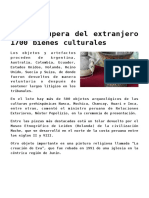 Perú recupera del extranjero 1700 bienes culturales