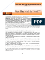 Newsletter December 2008 - What the Hell is Hell