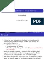 Radial Basis Function Neural Network