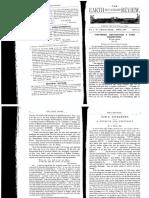 Earth Not a Globe Review the Vol i No 1 April 1896