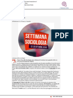 La Settimana della Sociologia - Il Mascalzone.it, 8 ottobre 2018