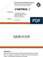 CONTROL I - Modelos Matemáticos de Sistemas