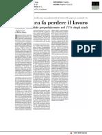 La e-fattura fa perdere il lavoro - Italia Oggi del 10 ottobre 2018