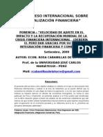 Ponencia La Crisis Financiera Internacional y sus consecuencias en el Perú