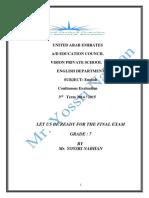 Revision Worksheet Term 3 Grade 7
