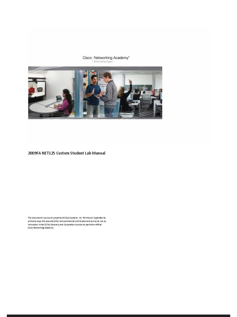 125 Custom Student Lab Manual | File Transfer Protocol | Computer Network