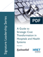 A Guide to Strategic Cost Transformation in Hospitals and Health Systems