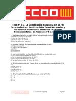 Doc127880 Test 1- La Constitucion Espanola de 1978