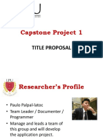 Title Proposal Presentation Clinic