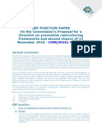 EBF - Postition Paper