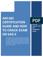 A00-262 Certification Guide and How to Crack Exam on SAS 9