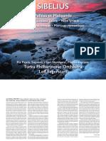 Jean Sibelius - Pelleas and Melisande  Suite & Others Booklet