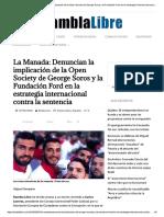 La Manada, Open Society de George Soros y La Fundación Ford