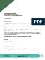 Outcome of 2018 Vice-Chancellor's Awards application