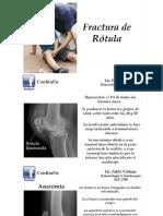 Fractura de Rotula (Lic. Pablo Vollmar)