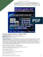 Prediksi Jitu Angka HK Kamis 11 Oktober 2018