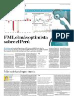 FMI, El Más Optimista Sobre El Perú