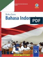 Buku Guru Bahasa Indonesia Kelas 9 K13 Revisi 2018