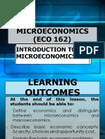 89898305 1 ECO 162 Introduction to Micro Economic