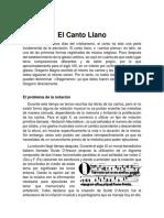 El Canto Llano