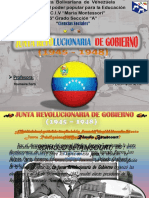 [Diapositiva] Junta Revolucionaria de Gobierno [Mariangela Ruiz]