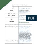 Fichas Para Trabajar Fuentes Bibliográficas