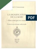 Ananda k Coomaraswamy La Signification de La Mort (1)
