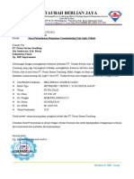 012. Surat Permohonan Pengajuan Commissioning Unit Light Vehicle PT. Taubah Berlian Jaya
