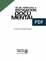 Gonzalez Reyna Susana - Manual De Investigacion Documental.pdf