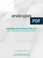 Estudio PBA Octubre - Consultora Analogías