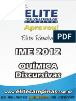 Elite Resolve IME 2012 Quimica Discursivas