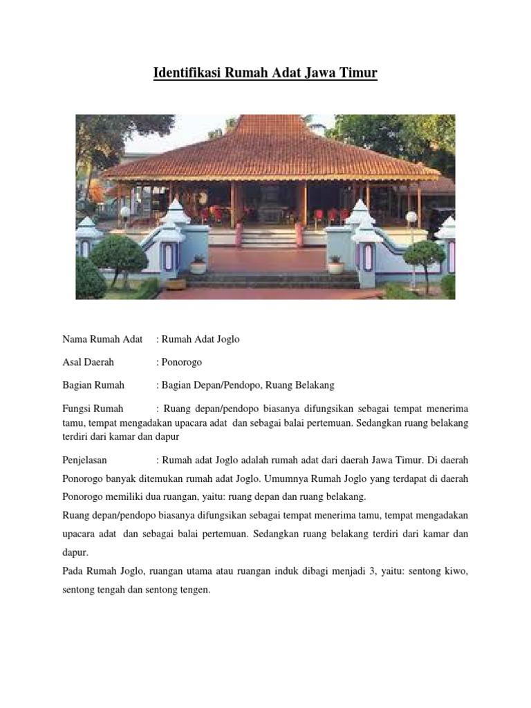 Identifikasi Rumah Adat Jawa Timur Docx