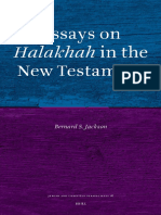 Bernard S. Jackson Essays on Halakhah in the New Testament Jewish and Christian Perspectives Series