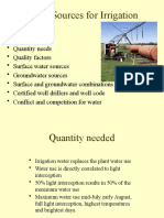 Water Sources for Irrigation