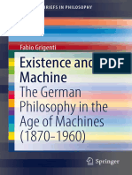 Existence and Machine_ the German Philosophy in the Age of Machines (1870-1960)