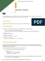 AWS Analyze Big Data With Terraform - CodeProject