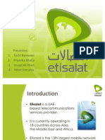 Marketing Presentation on Etisalat
