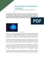 La Informática Cuántica, A Las Puertas de Un Salto Cuántico