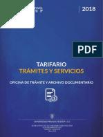 Tarifa de Servicios Prestados en La Telesup