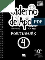 GAILIVRO - Caderno de Apoio Português - 4º Ano