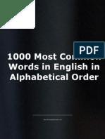 Cele Mai Intalnite Cuvinte in Engleza
