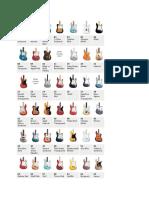 fender color chart.docx