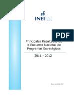 Encuesta Nacional de Programas Presupuestales 2011 - 2012
