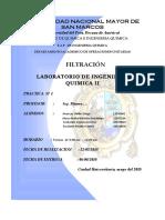 Informe de Filtracion- Filtro Prensa 2018-i