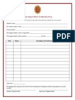 form to verify hours