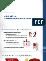 Calificación de Procedimientos Administrativos