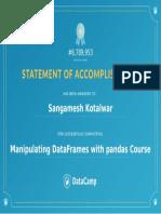 9. Manipulating Pandas Data Frame