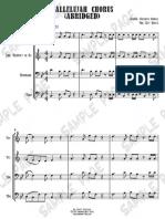 Hallelujah Chorus (Abridged) (Brass Quartet) - Jeff Bratz - Sample