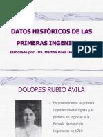 Datos Historicos Primeras Ingenieras