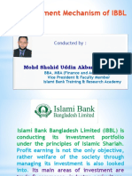 Inv. Mechanism By Islami Bank Bangladesh ltd
